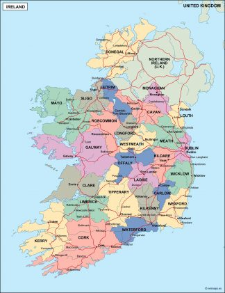 Country Of Ireland Map.Ireland Country Maps Vector Eps Download Our Digital Files