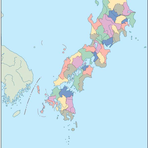 japan blind map