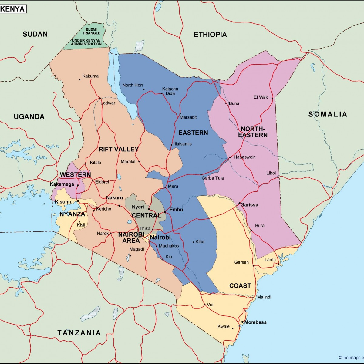 kenya political map Vector Eps maps Eps Illustrator Map Our