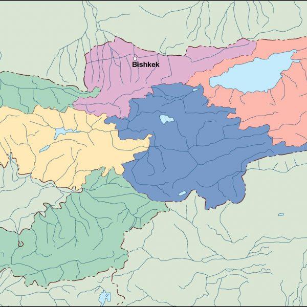 kirgizistan vector map