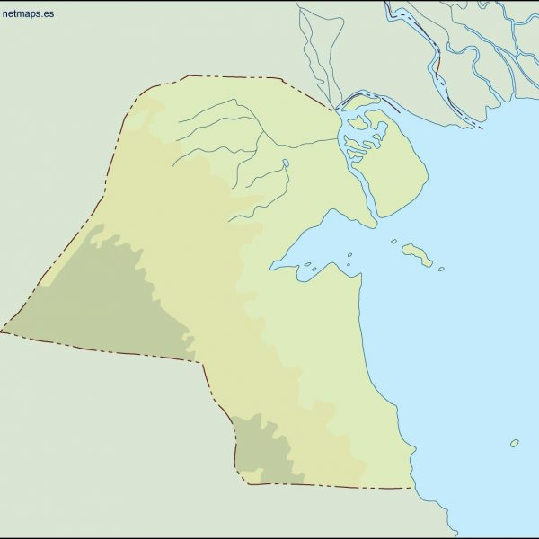 kuwait illustrator map