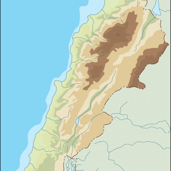 lebanon illustrator map