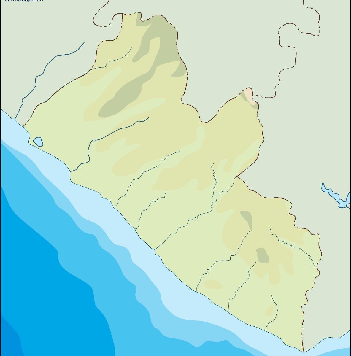 Liberia Illustrator Map Vector Eps Maps Eps Illustrator Map