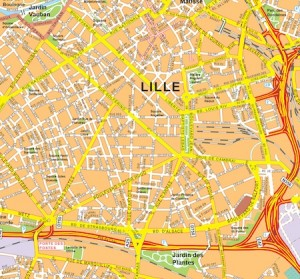 Lille vector map