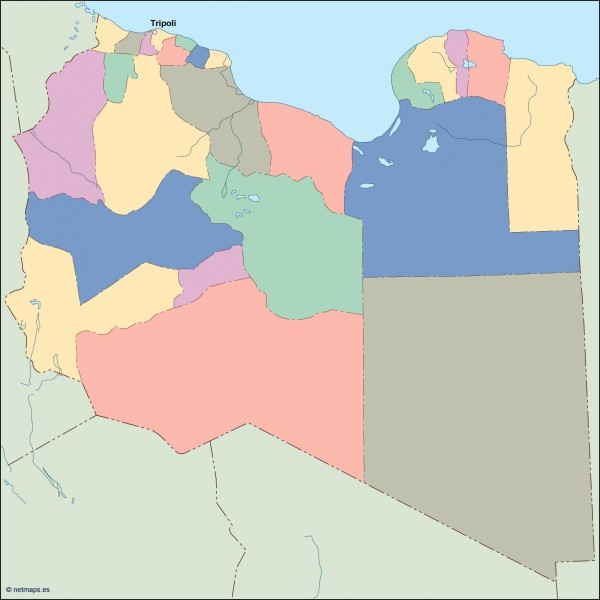 lybia vector map