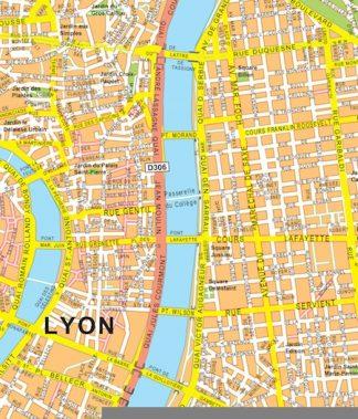 Lyon map