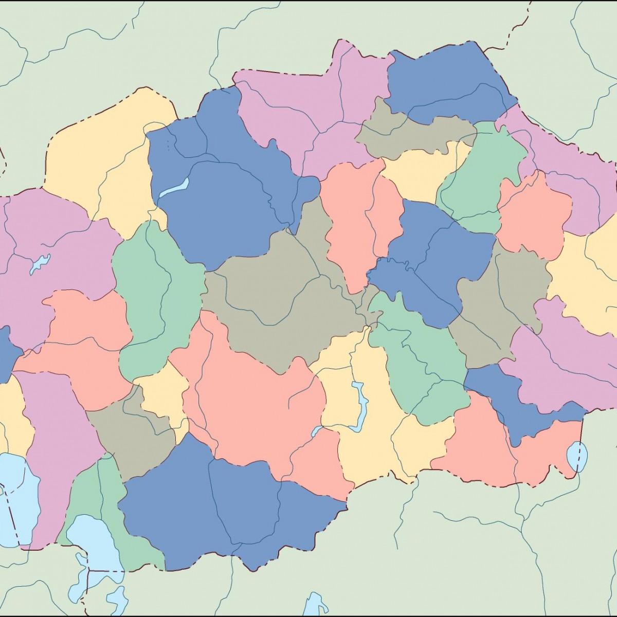 Macedonia Blind Map Illustrator Vector Eps Maps Eps Illustrator