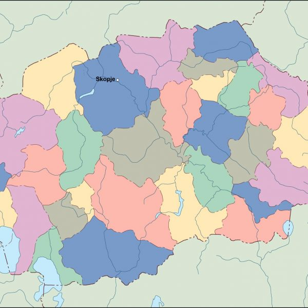 macedonia vector map