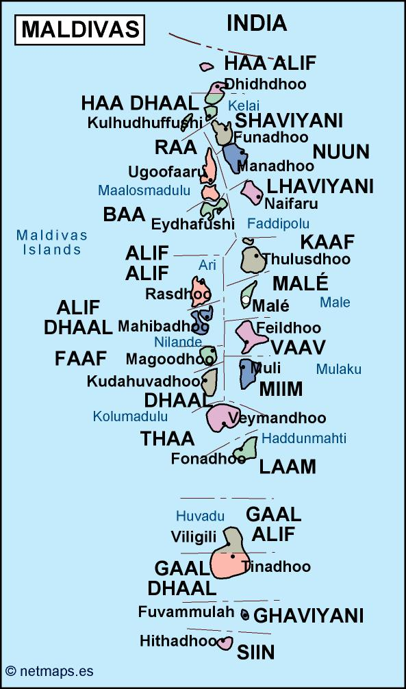 Maldives Political Map Eps Illustrator