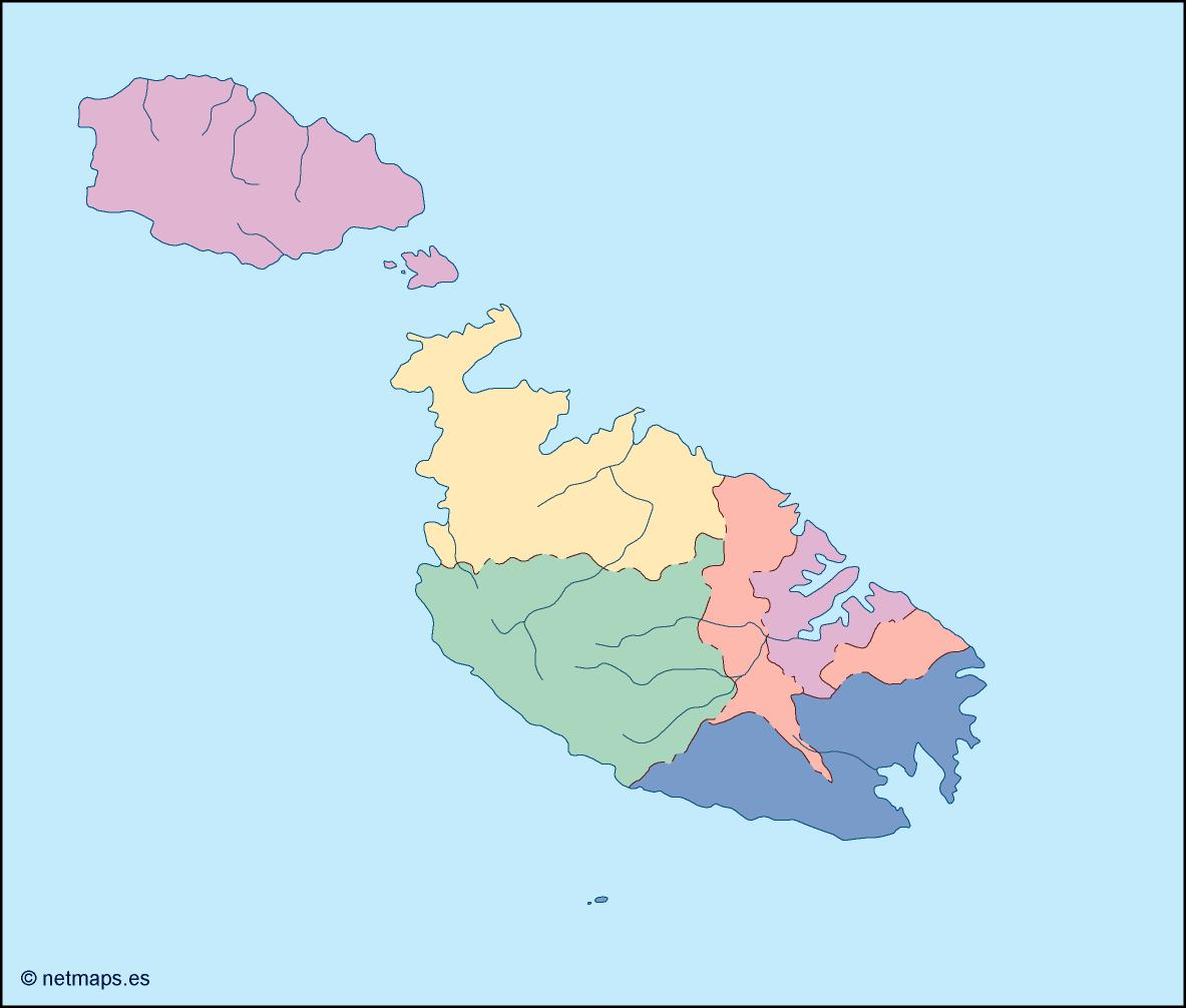 malta blind map. Illustrator Vector Eps maps. Eps Illustrator Map ...