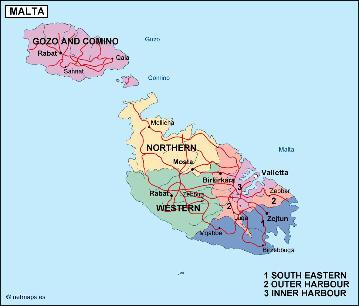 Picture of: Malta Malta Is One Of Our Thousands Of Maps You Can Order Or Download Or Maps From Our Secure Website Netmaps Net