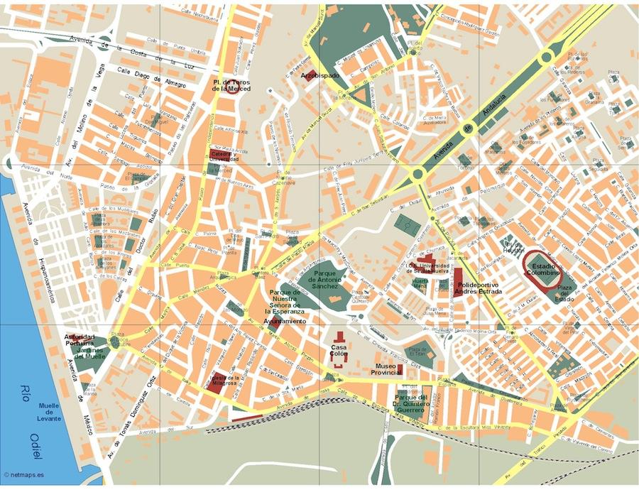 Costa De Barcelona Mapa.Vector Ilustrator Maps Vector Wall Maps From Netmaps