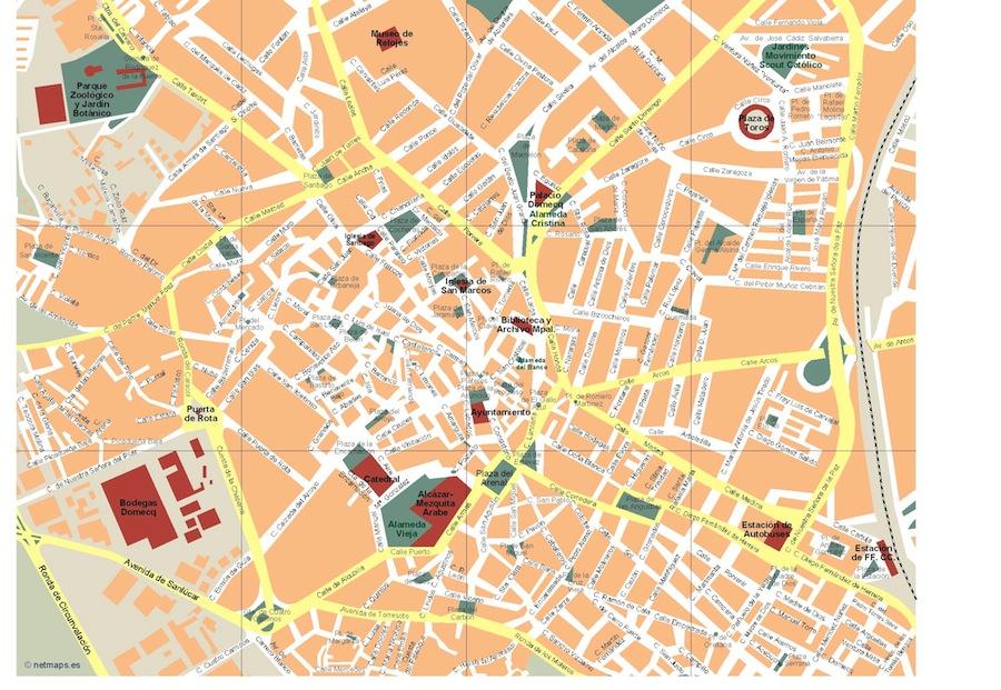 Jerez De La Frontera Karte.Mapa Jerez De La Frontera