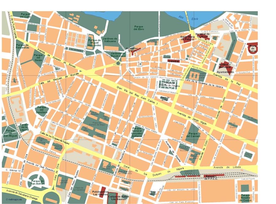 Logrono Vector Map Eps Illustrator Map Vector World Maps