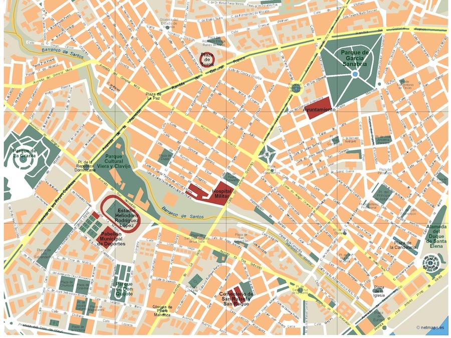 Santa Cruz de Tenerife Vector map. Eps Illustrator Map | Vector ...