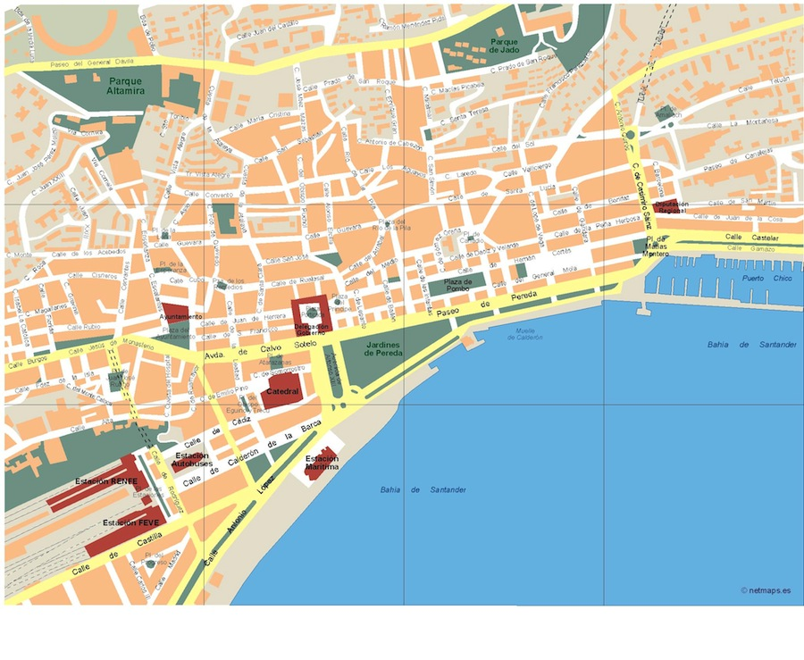 Santander vector map eps illustrator map a vector eps for Mapa santander sucursales