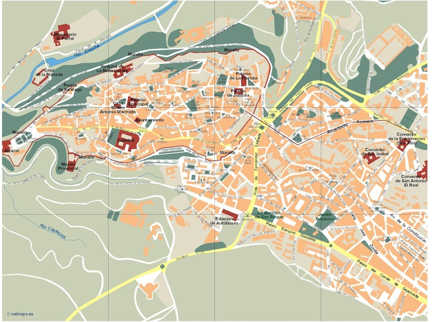 Segovia Vector map Eps Illustrator Map Our cartographers have