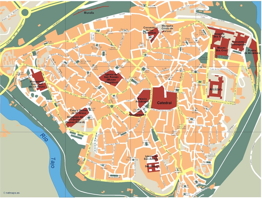 Map City Europe Eps Vector Wall Maps From Netmaps Made In