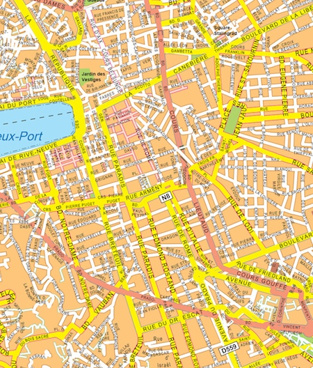 Marseille map Eps Illustrator Map Our cartographers have made
