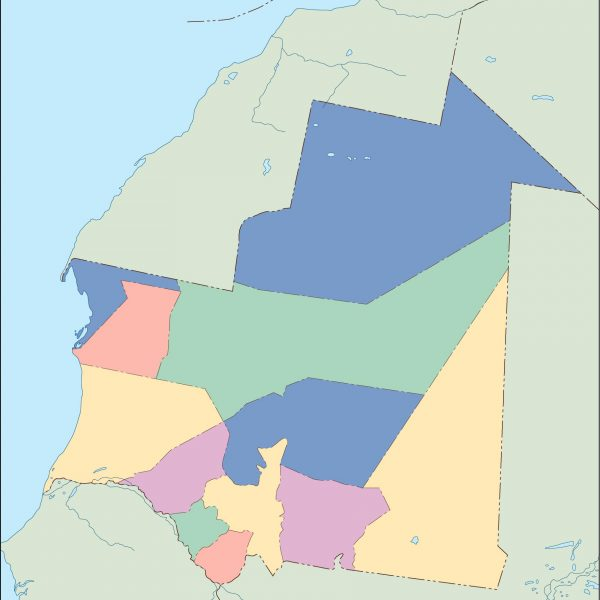 mauritania blind map