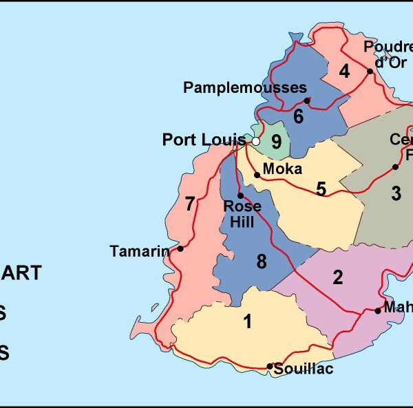 Mauritius Maps Vector Wall Maps Made In Barcelona From Netmaps - Political map of mauritius