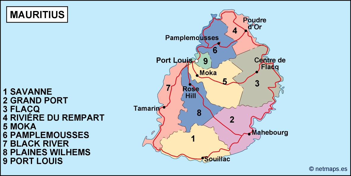 mauritius political map Vector Eps maps Eps Illustrator Map Our