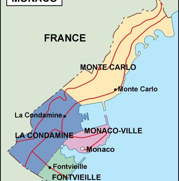 monaco political map