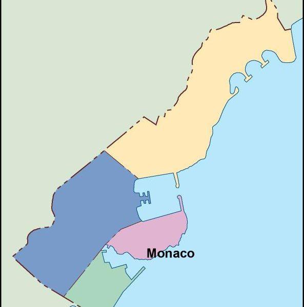 monaco vector map