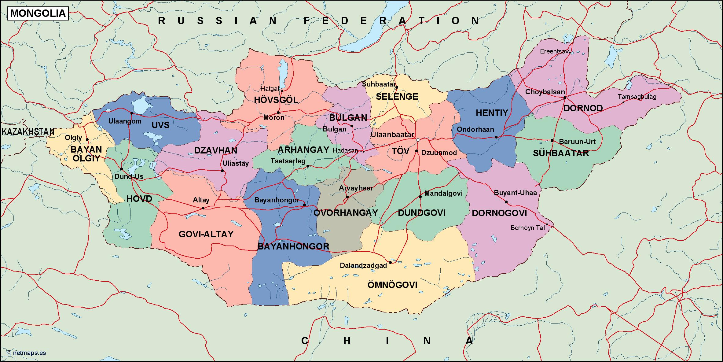Picture of: Mongolia Map World Map Of Mongolia