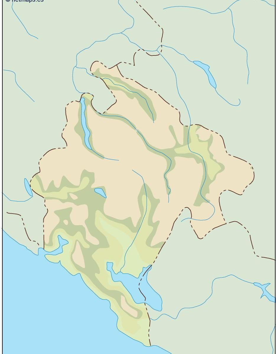 Montenegro Illustrator Map Illustrator Vector Eps Maps Eps