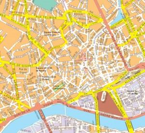 Nantes vector map