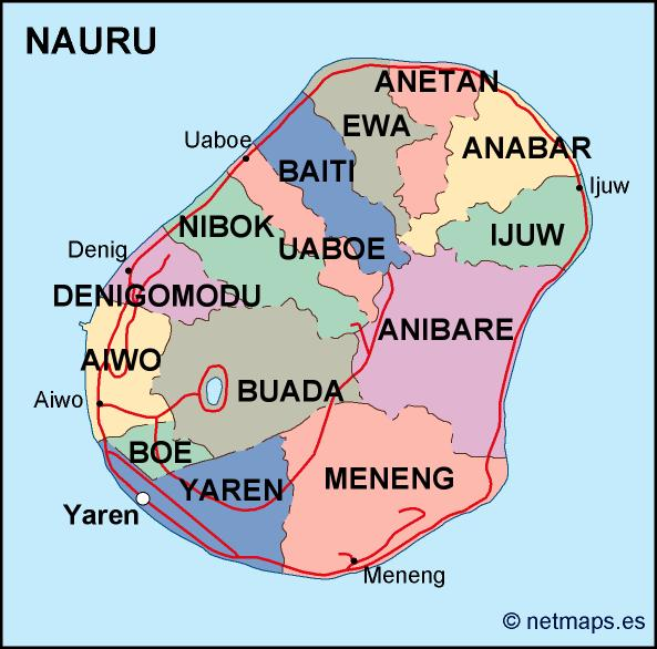 nauru political map