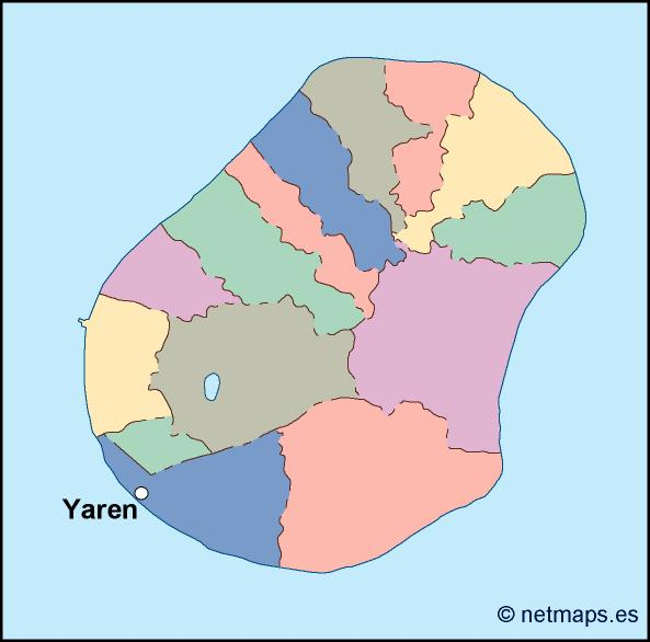 nauru vector map