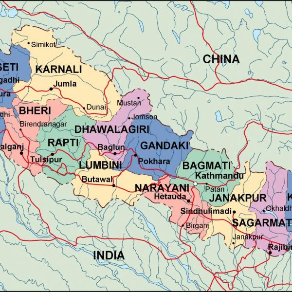 nepal political map
