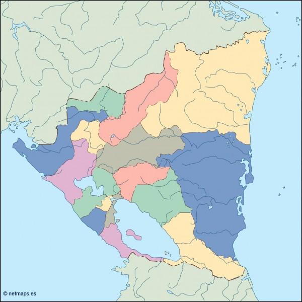 nicaragua blind map