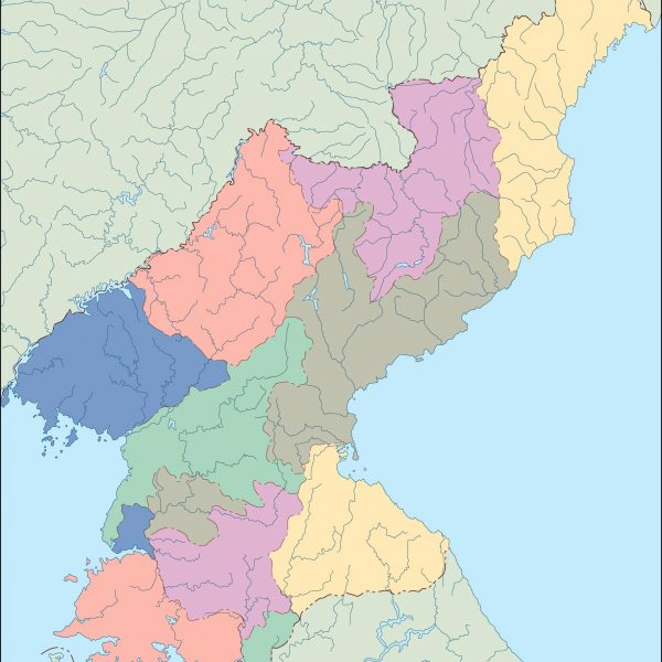 north korea blind map