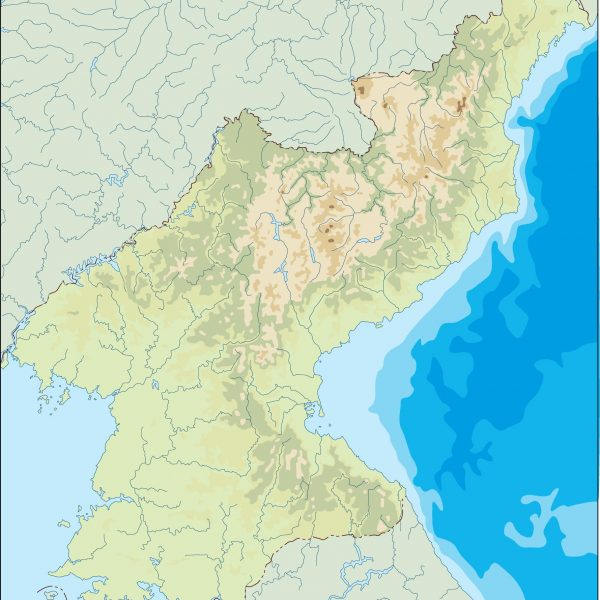 north korea illustrator map
