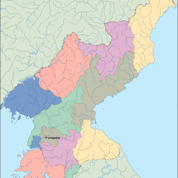 north korea vector map