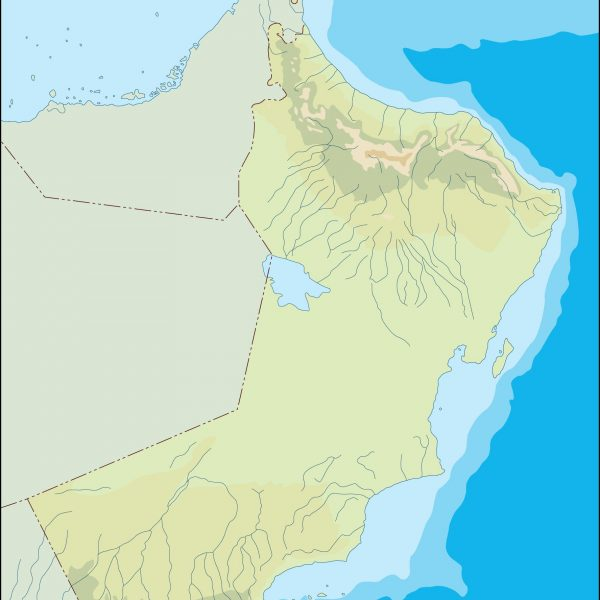 oman illustrator map