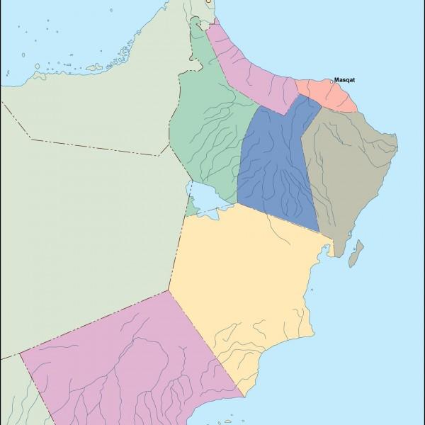 oman vector map