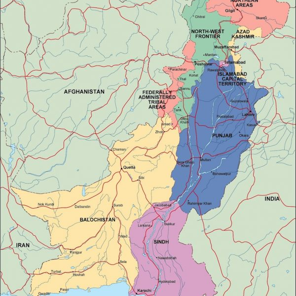 pakistan political map