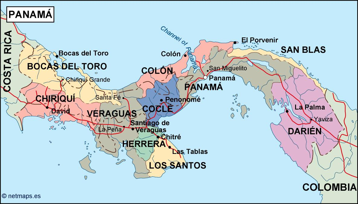Picture of: Panama Political Map Eps Illustrator Map Vector World Maps
