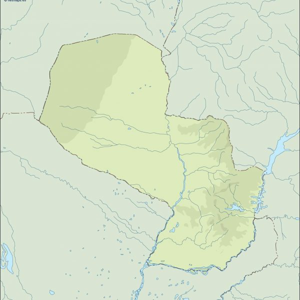 paraguay illustrator map