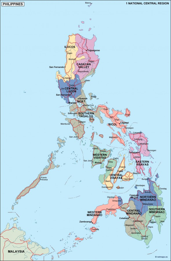 Philippines Political Map Eps Illustrator Map Our Cartographers - Philippines map