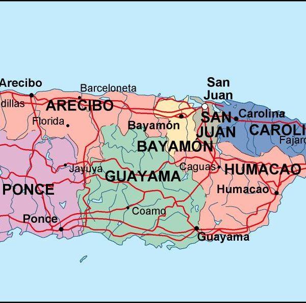 puerto rico political map