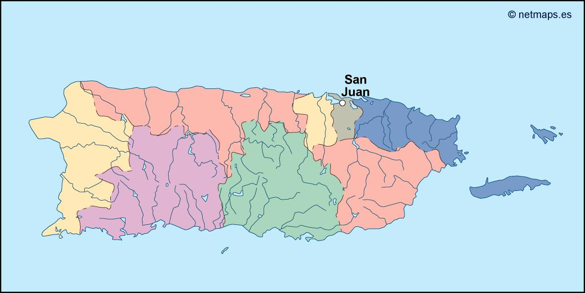 Picture of: Puerto Rico Vector Map Eps Illustrator Map Vector World Maps