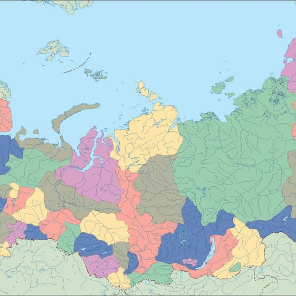 russia vector map