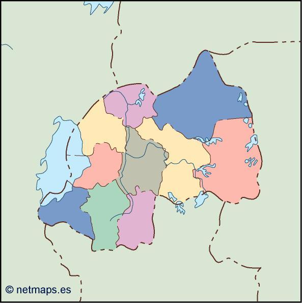 rwanda blind map