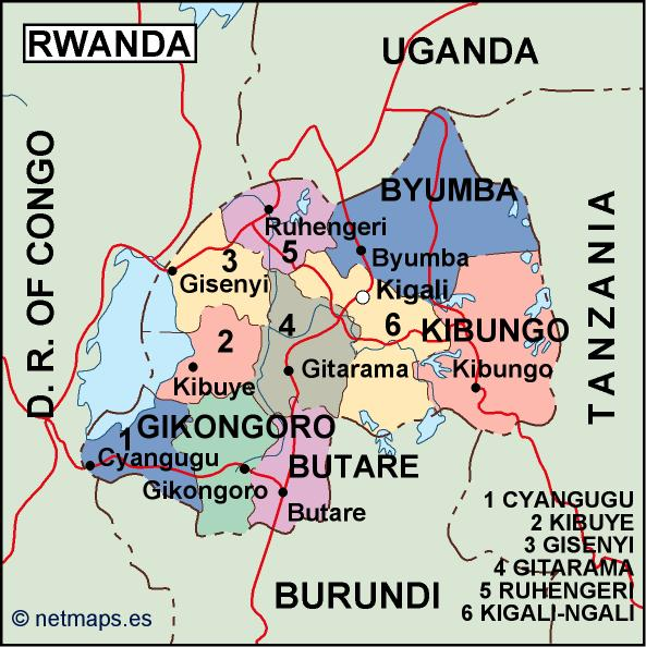 rwanda political map Vector Eps maps Eps Illustrator Map Our
