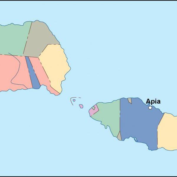 samoa vector map